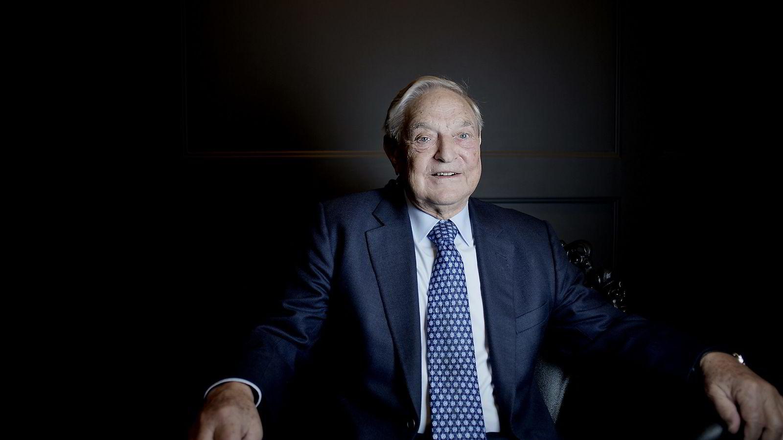 Hedgefondmilliardæren George Soros under sitt Norgesbesøk i 2012. FOTO: Luca Kleve-Ruud