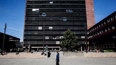 Artikkelforfatterne er bekymret for rekrutteringen til fremmedspråk ved universitetene. Her fra Blindern i Oslo. Foto: Fredrik Bjerknes