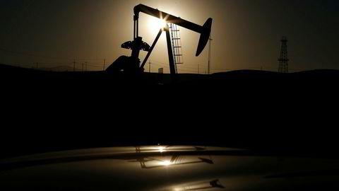 Fra et oljefelt nær Bakersfield i delstaten California i USA i 2014.