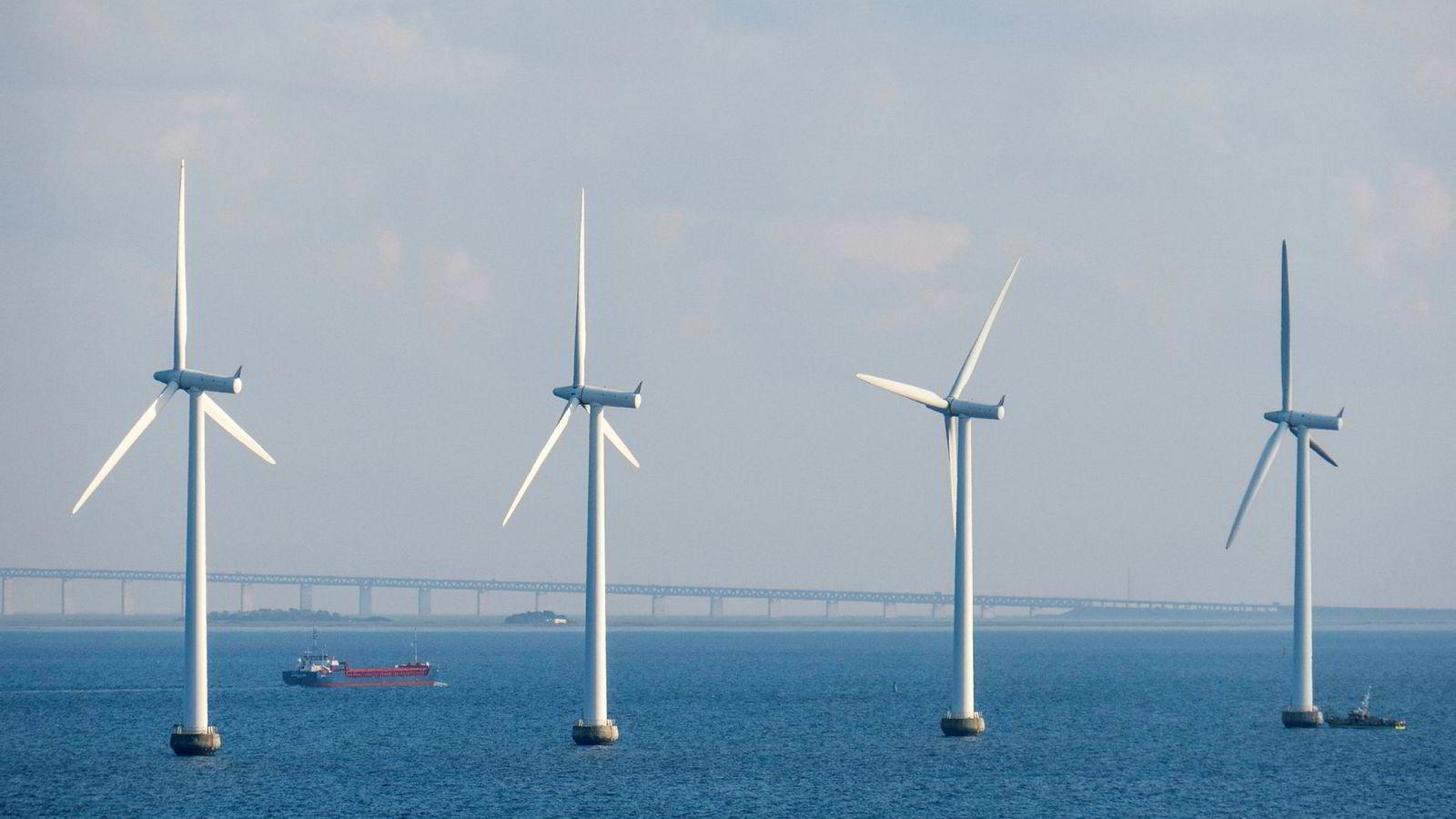 Miljøorganisasjonen Zero spådde i fjor at fem prosent av Oljefondet skulle investeres i sol- og vindparker. Her fra Middelgrundens Vindmøllepark som ligger i Øresund, rett utenfor København.