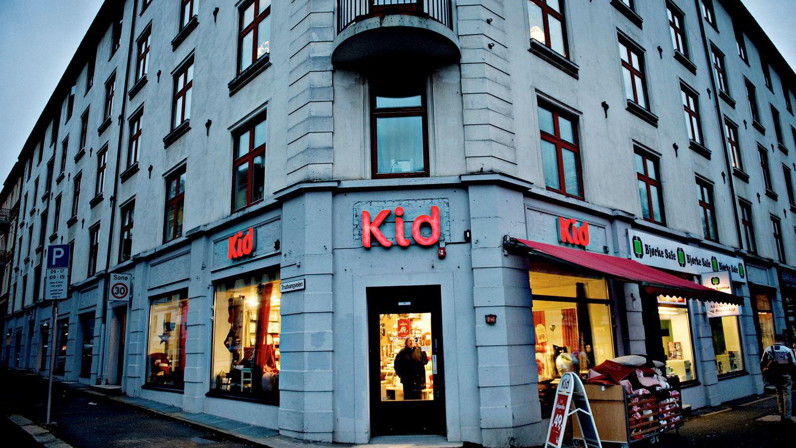 Kid Interiørbutikken i Kirkeveien 65 på Majorstuen i Oslo.