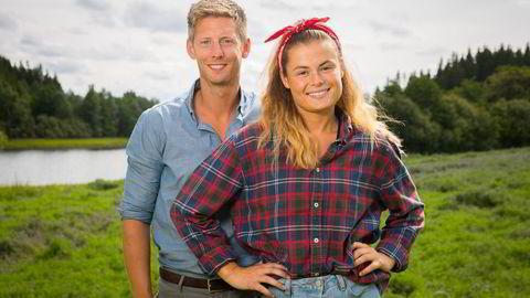 Farmen-deltager Sunniva Godal og programleder Gaute Grøtta Grav kan bli leverandører av eksklusivt innhold til TV 2 Sumo, tror medieekspert. Foto: TV 2