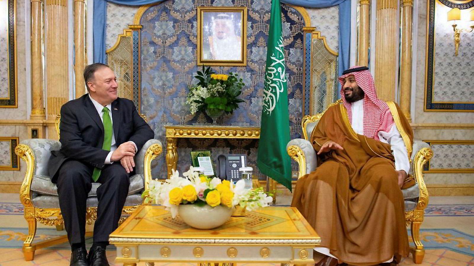 USAs utenriksminister Mike Pompeo møtte Saudi-Arabias kronprins Mohammed bin Salman i Jeddah onsdag.