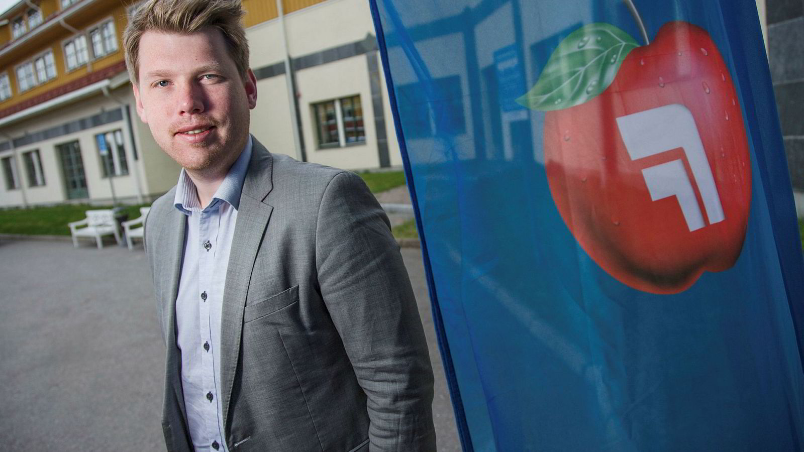 Gardermoen 20140503. Atle Simonsen, formann i Fremskrittspartiets Ungdom (FpU), under Frp sitt landsmøte på Gardermoen lørdag. Foto: Audun Braastad / NTB scanpix ---
