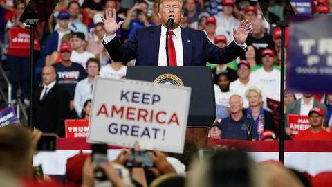USA president Donald Trump bekreftet på et valgmøte i Orlando tirsdag at han går for gjenvalg.