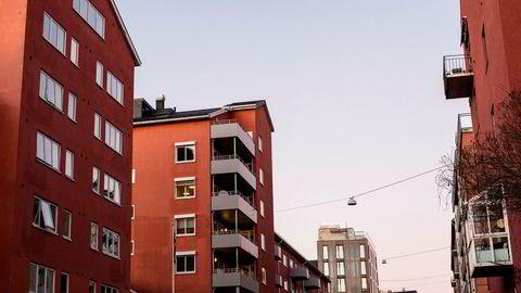 Her et tilfeldig valgt boligområde i Oslo, der boligprisene steg nær 16 prosent i 2016.
