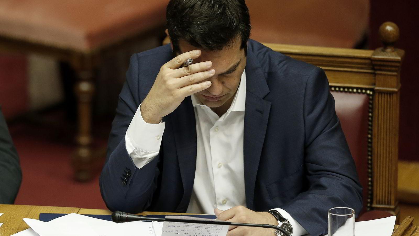 Hellas statsminister Alexis Tsipras sendte tirsdag et brev til Europakommisjnen der han langt på vei ga etter for kreditorenes krav. Foto:
