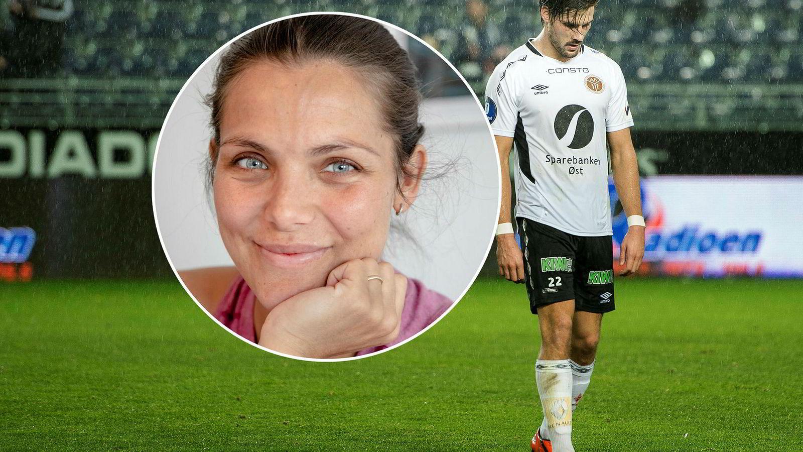 Bloggeren Jørgine «Funkygine» Vasstrand og fotballspiller Morten Sundli på Ullensaker Kisa trodde leiligheten var invadert av sølvkre, ikke skjeggkre.