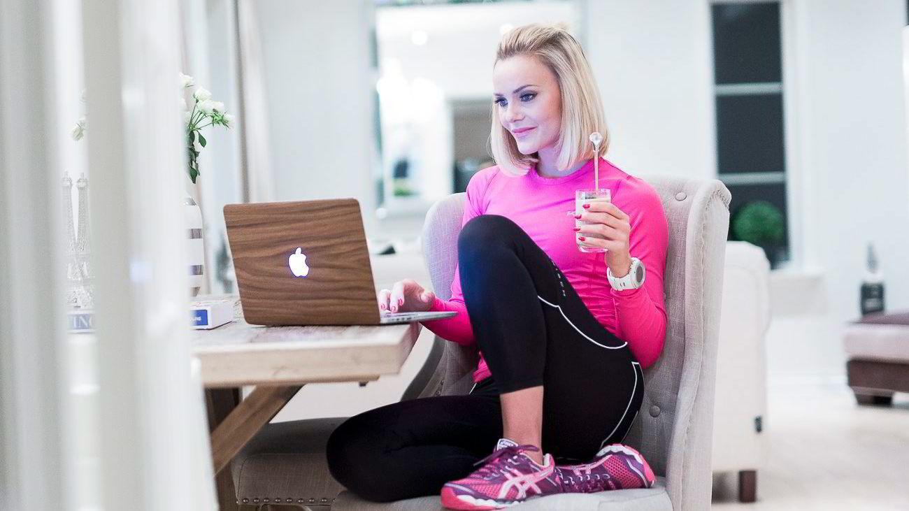 Caroline Berg Eriksen har undertegnet kontrakt med nettverket United Influencers. Bildet fra bloggen er trykket med tillatelse fra Eriksen, da hun fredag ikke hadde anledning til å la seg fotografere av DN.