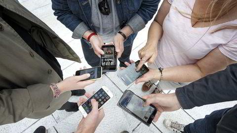 Kun halvparten av oss har tillit til at appene vi bruker, behandler personinformasjon på en betryggende måte, viser en undersøkelse utført for Forbrukerrådet. Foto: Gorm Kallestad /