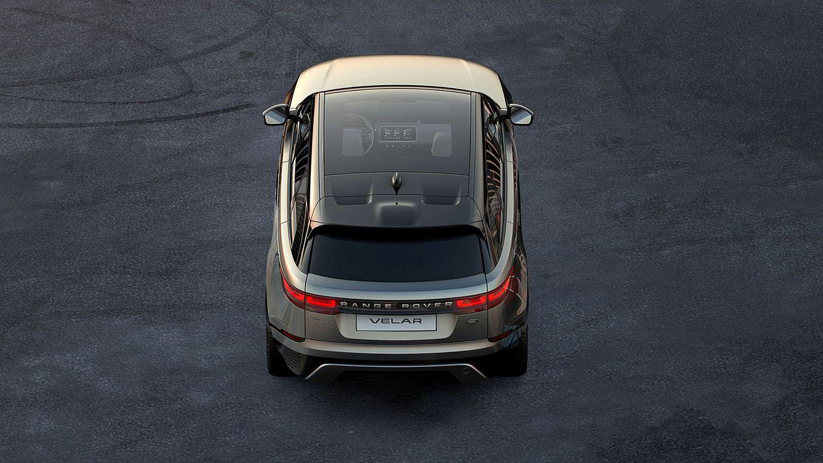 Dette er det første bildet av den nye Range Rover Velar.