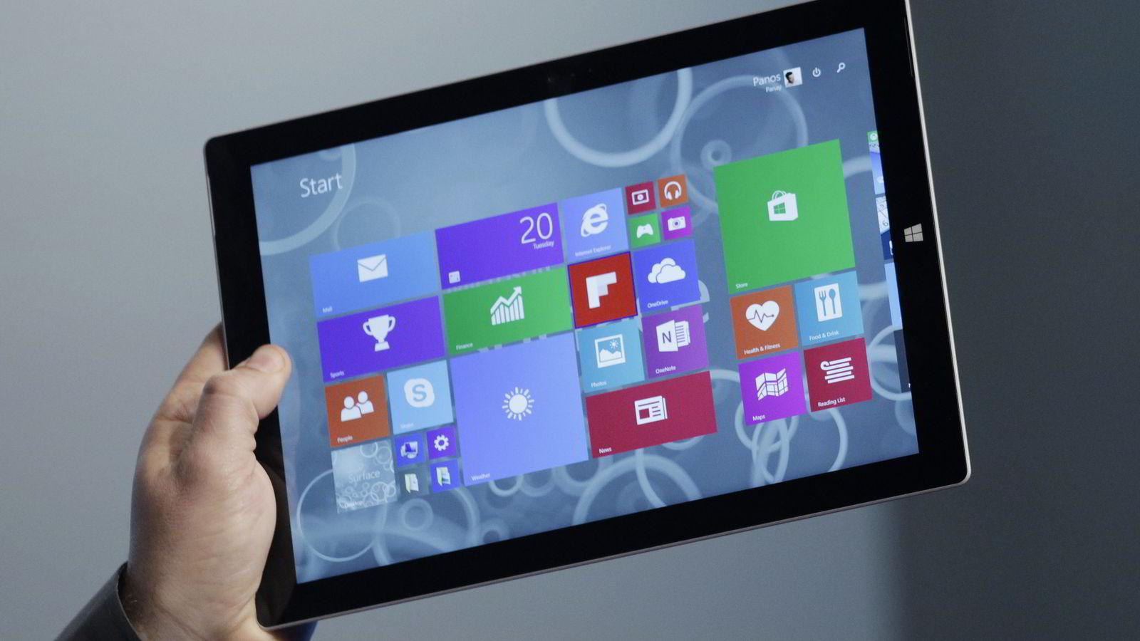 Microsoft Surface Pro 3. Foto: Scanpix