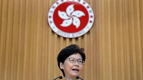 Hongkongs leder Carrie Lam har vært under kraftig press de siste månedene