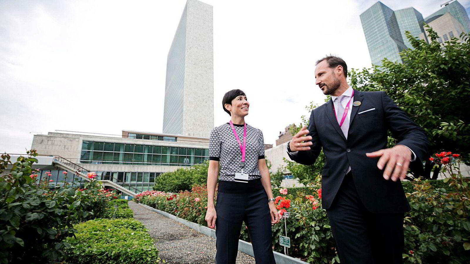 Kronprins Haakon og utenriksminister Ine Eriksen Søreide (H) sparket i gang den norske valgkampen i New York i sommer. Kandidaturet har likevel vært kjent i flere år.