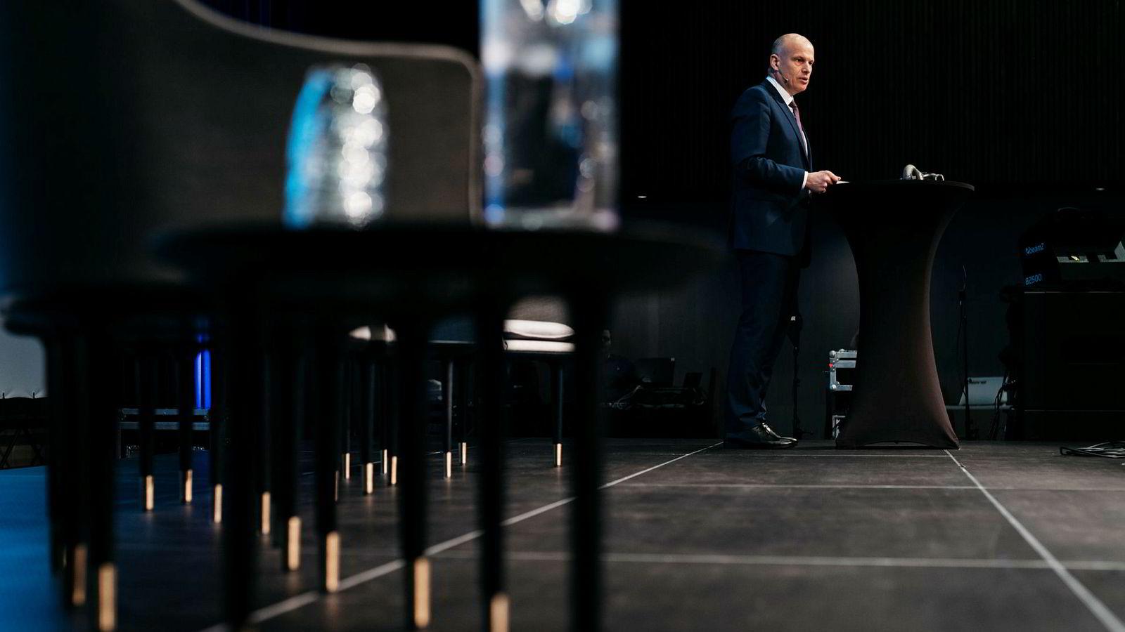 Arne Sigve Nylund, sjef for norsk sokkel i Equinor, fortalte at sytti prosent av innkjøpene til Johan Sverdrup kommer fra norske leverandører. Han talte på NHOs årlige møte på Sola mandag.