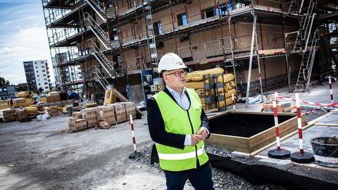 Administrerende direktør Baard Schumann i Selvaag Bolig er klar for å bygge på Valle Hovin. Foto: Klaudia Lech