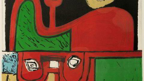 Menneske. «Portrett» fra 1960 er utstillingens mest mettede bilde – en hånd her, et øye der.