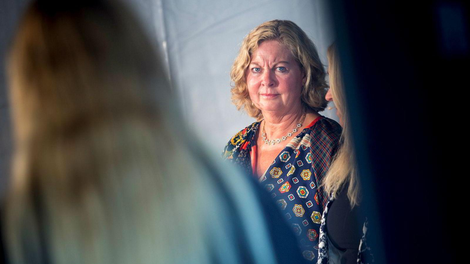 Sjefen for Telenor Skandinavia, Berit Svendsen, er nærmest blitt en symbolfigur for alle kvinner i norsk toppledelse. Her fotografert i en paneldebatt under Arendalsuka.