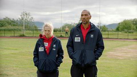Fotball. Helena Mikkelsen (Ane Dahl Torp) og Michael Ellingsen (John Carew) i sesong to av «Heimebane», som har premiere 17. februar.