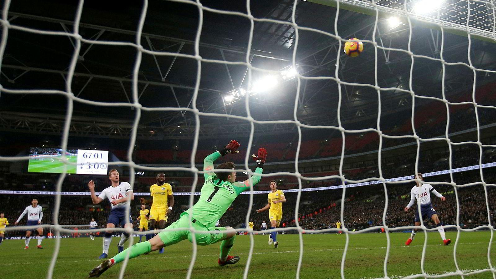 Teknologigigantene har begynt å snuse på Premier League-rettigheter. Her fra kampen mellom Tottenham og Chelsea i forrige uke.