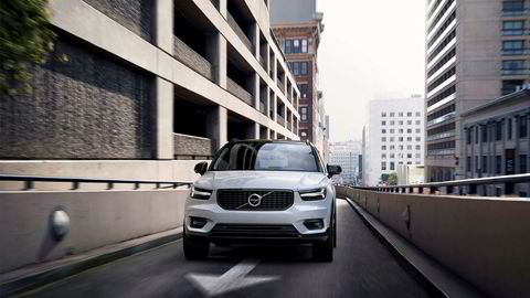 Nye Volvo XC40 har de karakteristiske «Tors hammer»-lyktene som alle Volvos nye modeller er utstyrt med.