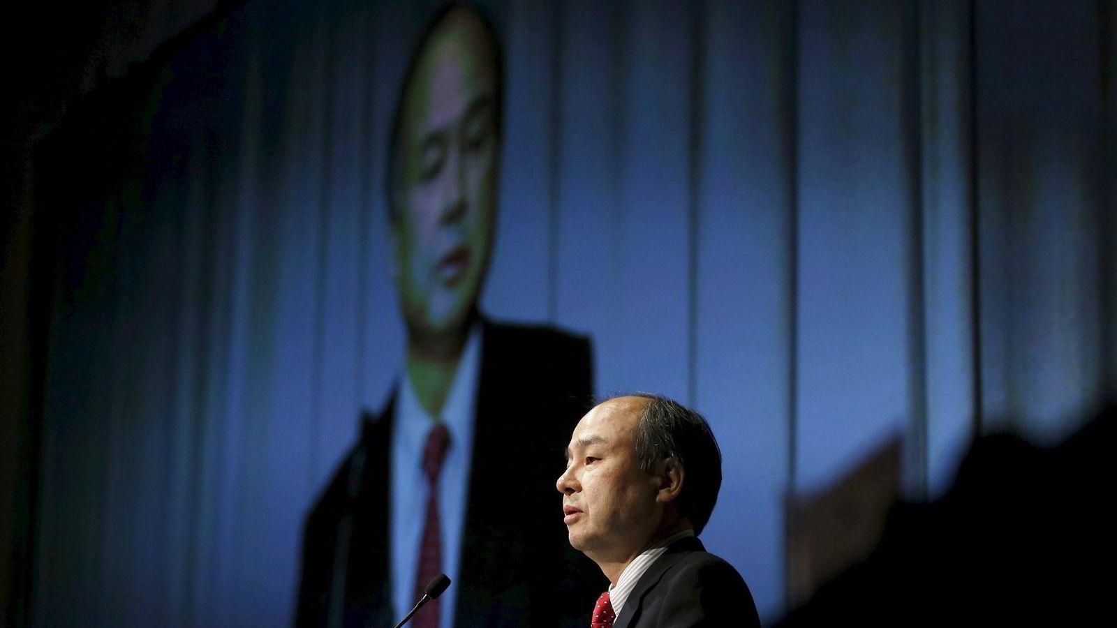 Softbank-grunnlegger Masayoshi Son er kjent for å ta risiko som få andre japanske næringslivsledere. Foto: Toru Hanai/Reuters/NTB Scanpix