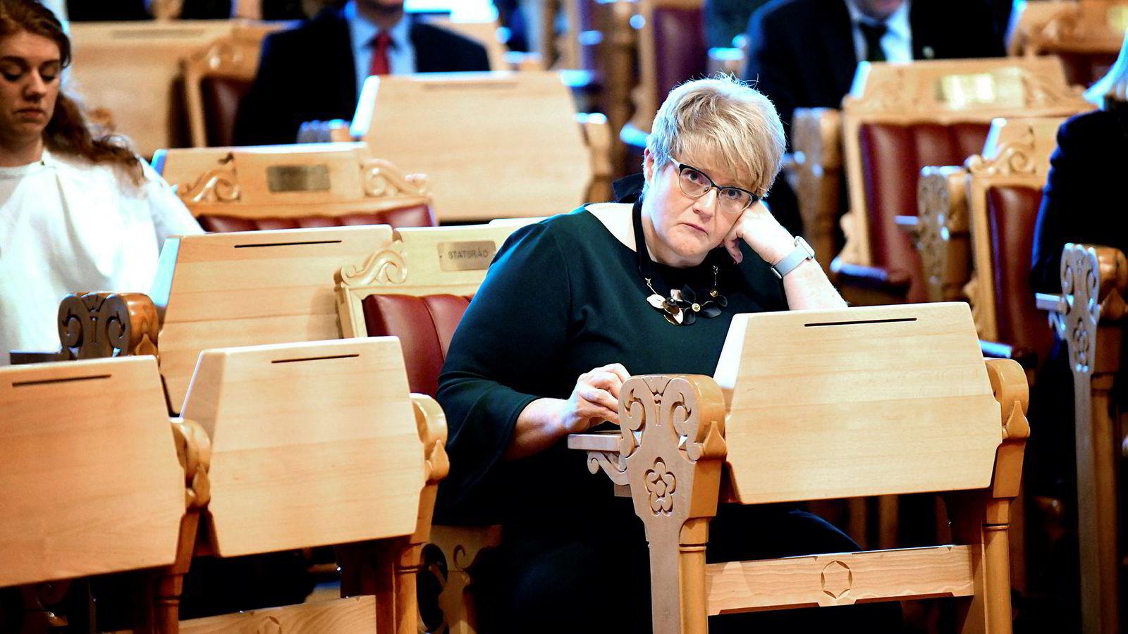 Kulturminister Trine Skei Grande (V) oppfyller ikke NRKs lisensønske.