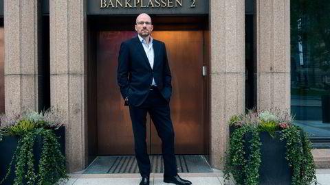 NBIM-direktør Øyvind Schanke forklarer Oljefondets utlånsstrategi. Foto: Per Ståle Bugjerde