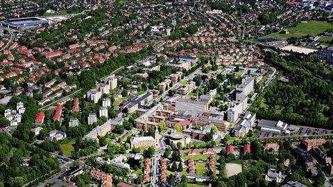 Flyfoto over Ullevål Sykehus.