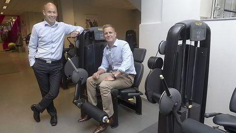 I MÅL. Administrerende direktør Olav Thorstad i Health & Fitness Nordic (til venstre) har solgt ni treningssentre til Tom Even Mortensens gruppe Nytt Senter. Foto: Elin Høyland