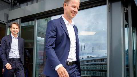 Seniorpartnerne Jon Vatnaland (foran) og Erlend Basmo Ellingsen i Hitecvision får sentrale posisjoner i den nye milliardsatsingen sammen med Eni.