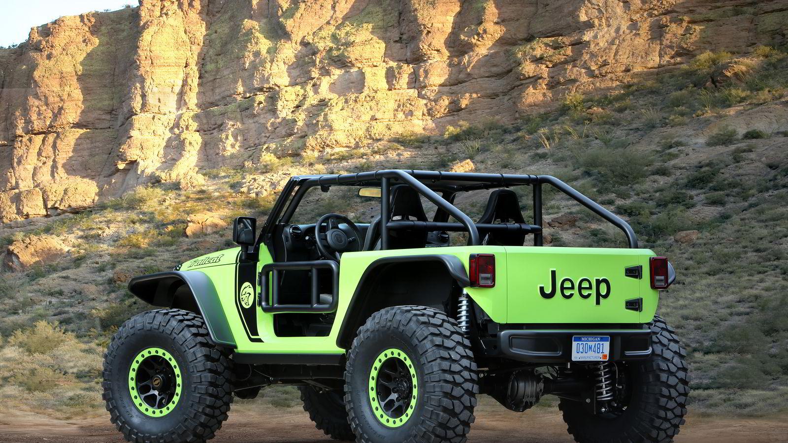 Jeep Trailcat har over 700 hestekrefter og burde være kapabel til mye utenfor normale veier. Alle foto: Jeep