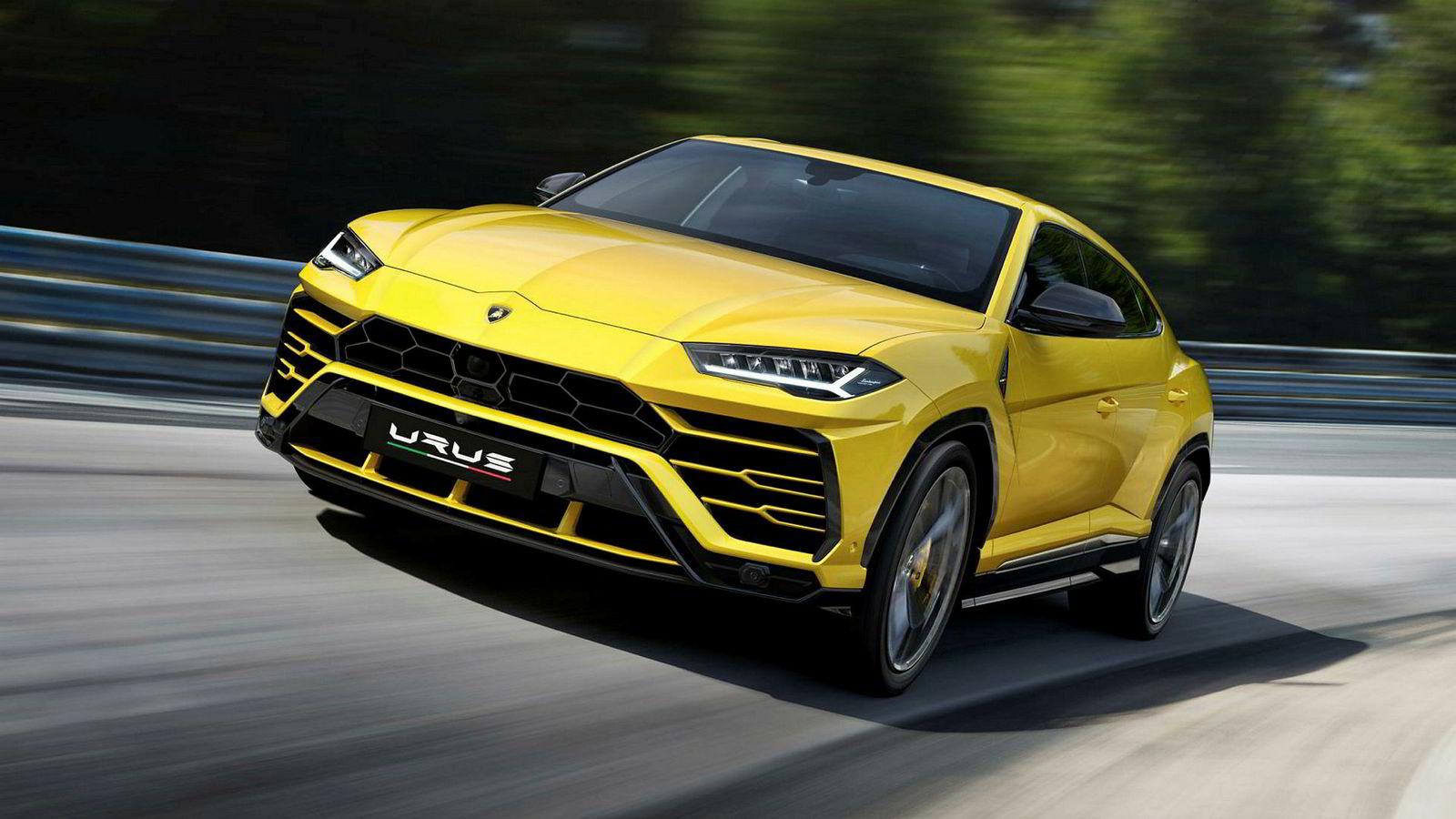 Verdens raskeste suv: Lamborghini Urus.