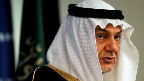 Prins Turki bin Faisal Al Saud, tidligere leder av Saudi-Arabias etterretningstjeneste og ambassadør til Storbritannia og USA, er alt annet en begeistret over støyen i kjølvannet av drapet på journalisten Jamal Khashoggi.