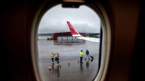 Norwegian reagerer på at politikerne nå vil endre loven. Her fra Alta lufthavn.--