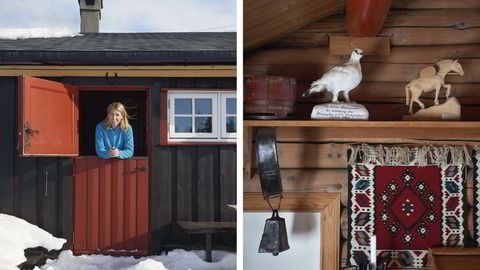 Hjemmebane. Mina Gerhardsen har feriert på hytta Bauko på Gålå ved Vinstra så å si i alle ferier hele livet, med unntak av noen turer til varmere strøk om vinteren. – Dette er mitt rike. Det er her jeg finner sjelero, sier hun