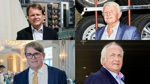 Fra øverst til venstre: Eiendomsinvestor Kim Erla, investor Egil Stenshagen, forvalter Jan Petter Sissener, og investor Torstein Tvenge.