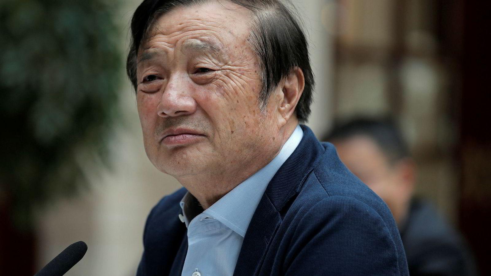 Huaweis grunnlegger Ren Zhengfei slår tilbake mot den amerikanske boikotten.