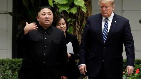 President Donald Trump og Nord-Koreas leder Kim Jong Un fortsetter samtalene torsdag.