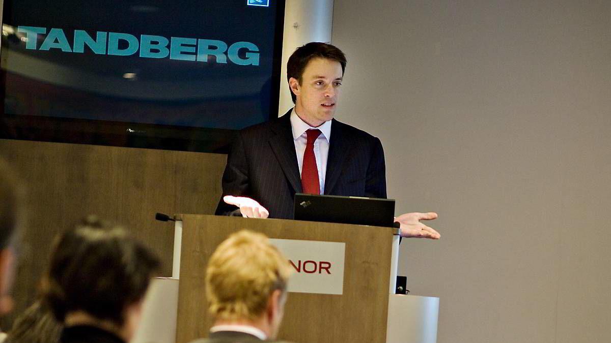 Fredrik Halvorsen er Tandberg-sjef.