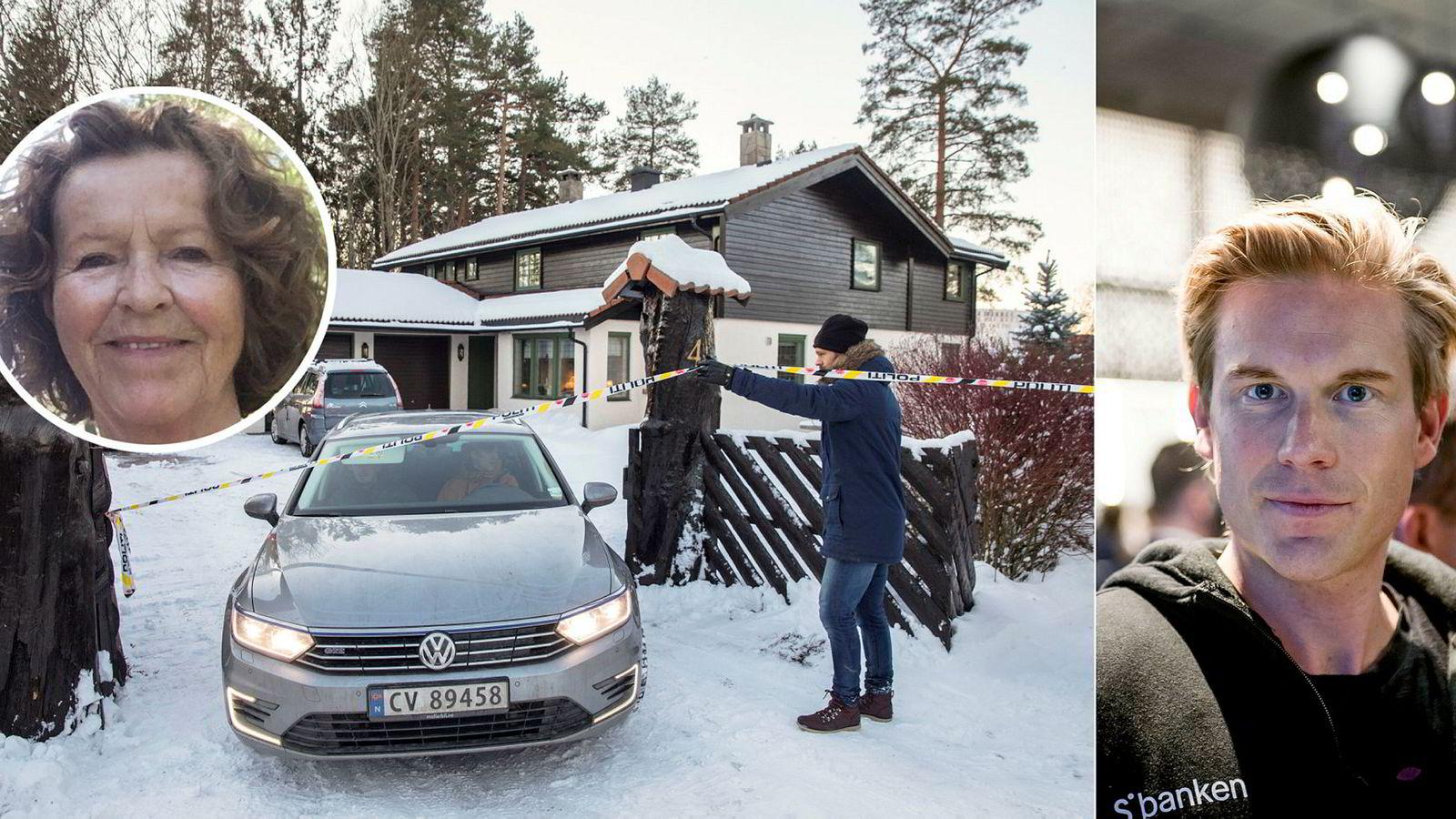Anne-Elisabeth Falkevik Hagen, kona til Tom Hagen, (innfelt) en av Norges rikeste, har vært borte i ti uker. Onsdag var politiet på plass i boligen der hun sist ble sett. Etterforskere har sperret av eiendommen. Christoffer Hernæs, digitalsjef i Skandiabanken mener løsepengekravet er oppsiktsvekkende.