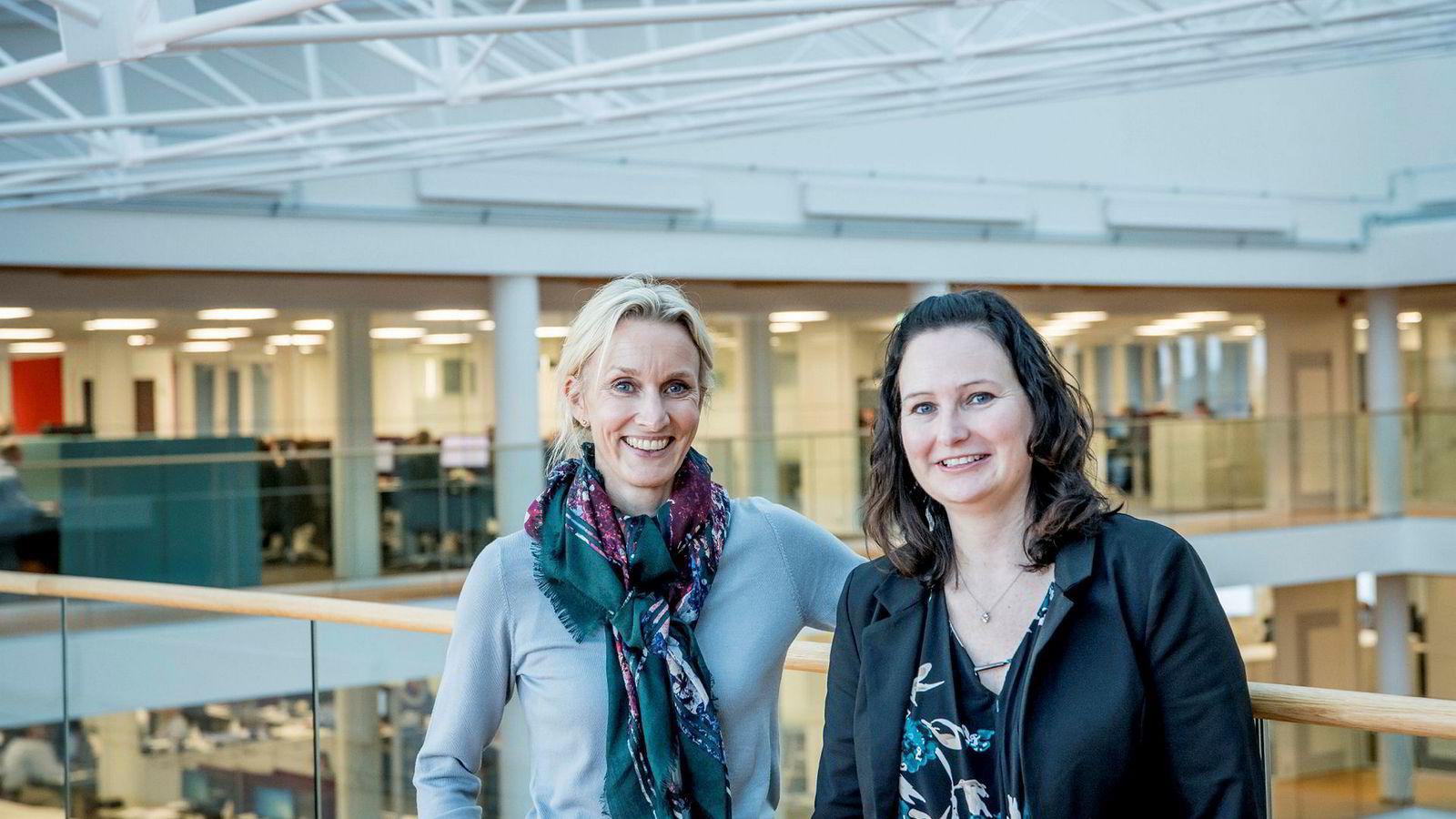 Randi Marjamaa, sjef for Nordea Liv (til venstre) og Kristine Berntsen Foss, leder for Nordeas nye team med pensjonseksperter, mener alle må begynne å spare til pensjon.