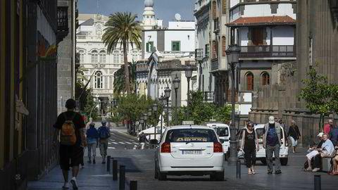 En nordmann mener seg svindlet da hun handlet nettbrett i en butikk på Gran Canaria, og krever erstatning fra banken. Her fra byen Las Palmas på Gran Canaria. Foto: DESIREE MARTIN/NTB Scanpix