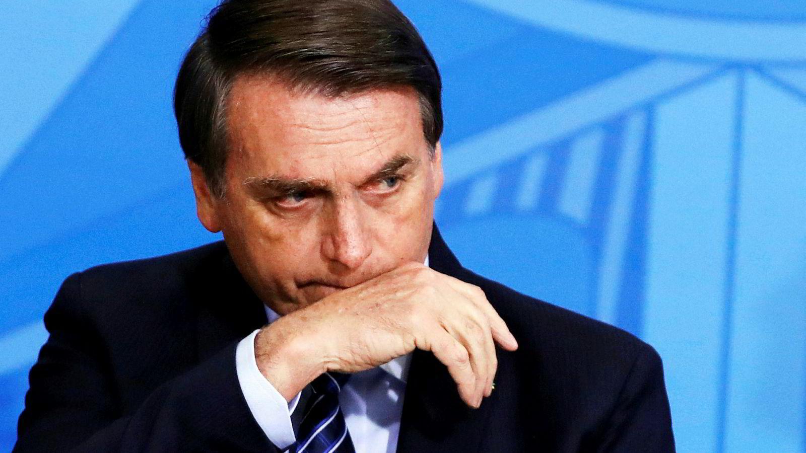 Brasils president, Jair Bolsonaro.