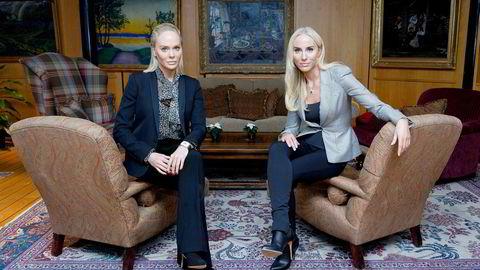 Kathrine Fredriksen (til venstre) avviser at hun og søsteren Cecilie ikke skulle ha en fortsatt sentral rolle i Fredriksen-systemet. Overfor DN påpeker hun at det bare var shipping og offshore faren uttalte seg om.