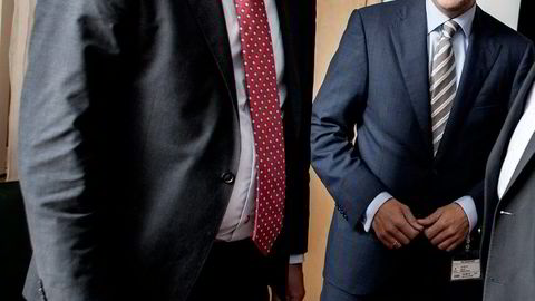 I MØTE. Energiminister Tord Lien (til venstre) og Oluf Ulseth, direktør for Energi Norge.