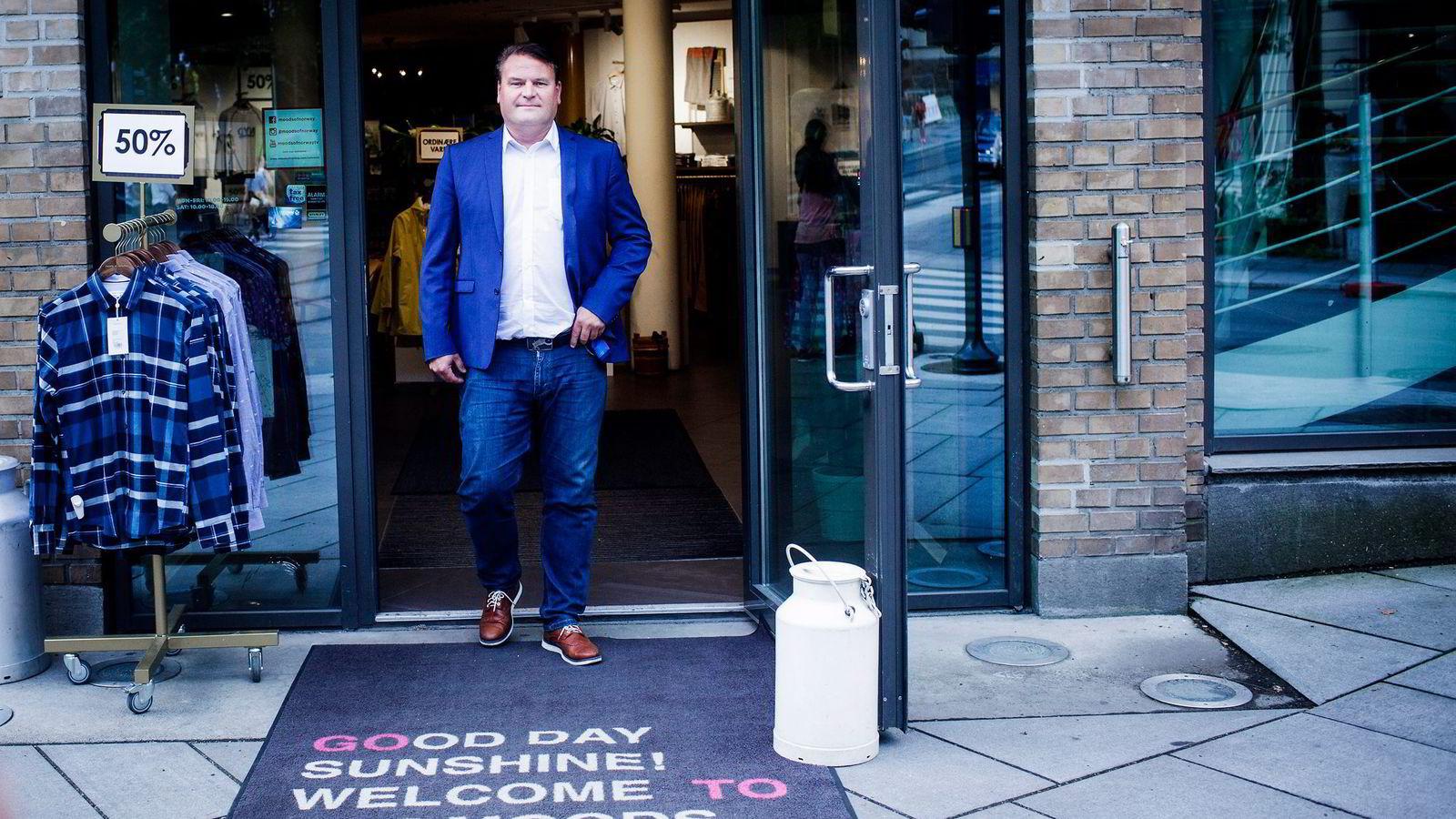 Daglig leder i Moods of Norway, Jan Egil Flo, vil ta tilbake kontrollen på det norske markedet. Her i Moods` super duper store i Hegdehaugsveien, Oslo.