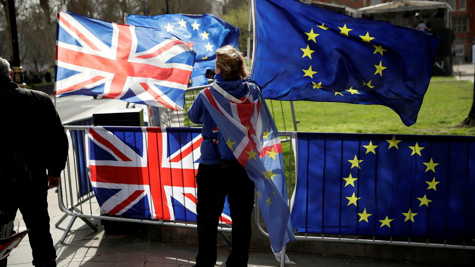 Usikkerhet helt til det siste rundt brexit-prosessen mellom Storbritannia og EU.