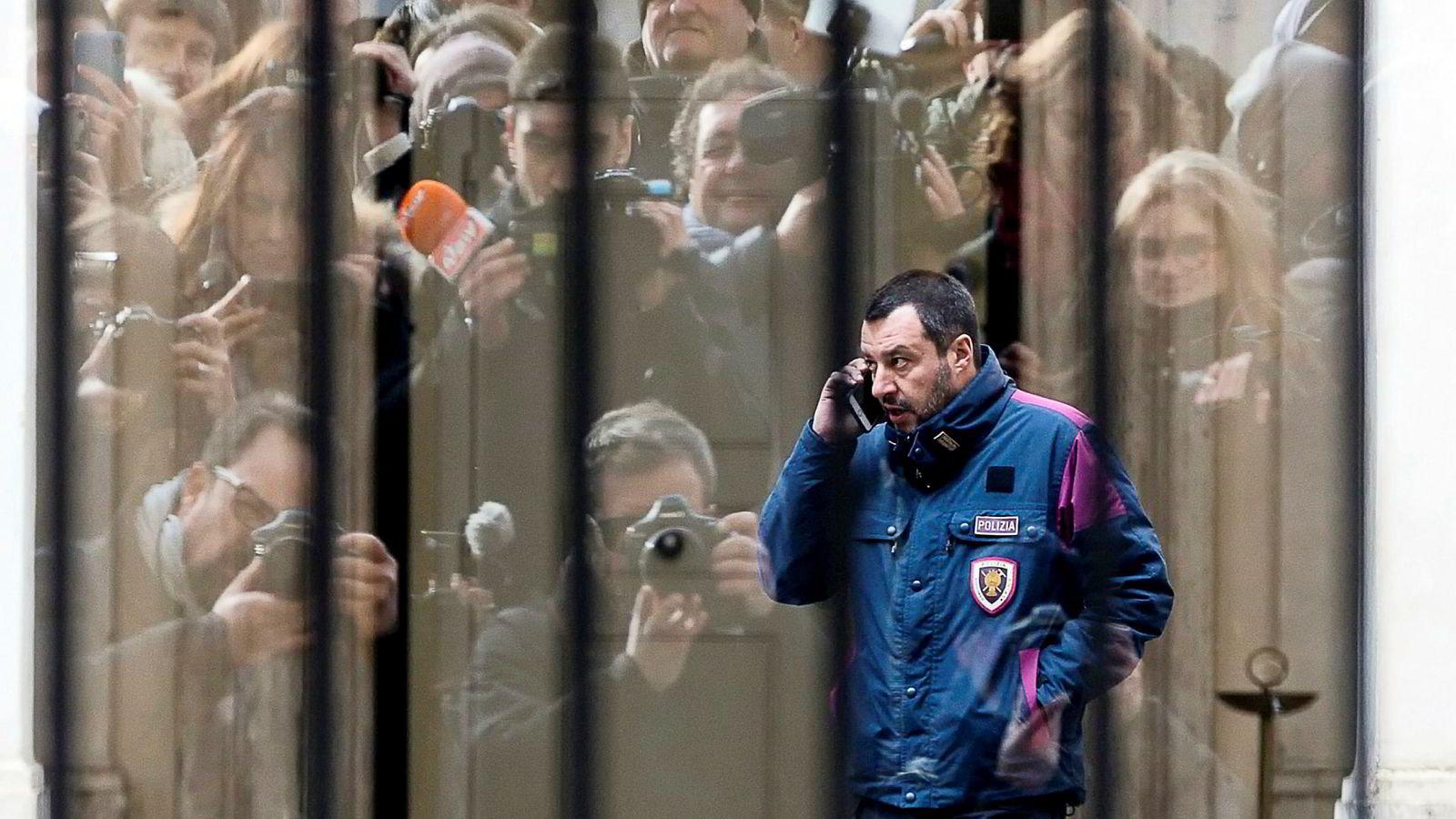Italias innenriksminister Matteo Salvini.