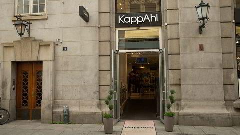 Kleskjeden Kappahl satser på kjøpesentre, og bare et fåtall av deres butikker er som denne frittstående butikken på Karl Johan.